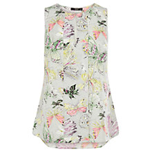Buy Oasis Butterfly Top, Multi Grey Online at johnlewis.com