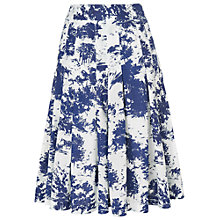 Buy Phase Eight Fantine Skirt, Ink/White Online at johnlewis.com