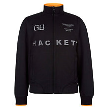 Buy Hackett Boys' London Aston Martin Racing Sweatshirt, Black Online at johnlewis.com