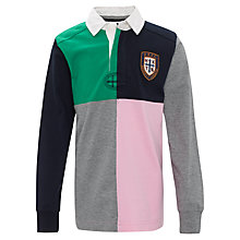 Buy Hackett Boys' London HRFC Quad Rugby Shirt, Multi Online at johnlewis.com