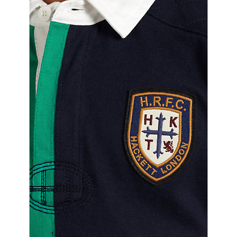 Buy Hackett London Boys' HRFC Quad Rugby Shirt, Multi Online at johnlewis.com