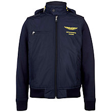 Buy Hackett Boys' London Aston Martin Racing Nylon Jacket, Navy Online at johnlewis.com
