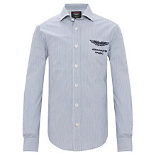 Buy Hackett Boys' London Aston Martin Racing Striped Shirt, Blue Online at johnlewis.com