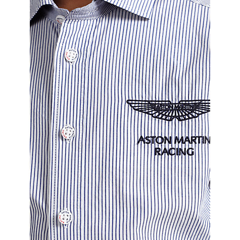 Buy Hackett London Boys' Aston Martin Racing Striped Shirt, Blue Online at johnlewis.com