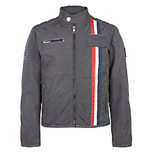 Buy Hackett Boys' London Aston Martin Racing Salvadori Moto Jacket, Grey Online at johnlewis.com