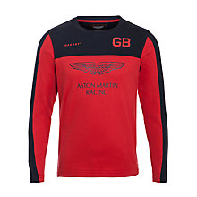 Buy Hackett London Boys' Aston Martin Racing Logo Top Online at johnlewis.com
