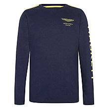 Buy Hackett Boys' Aston Martin Racing Long Sleeve Top, Navy Online at johnlewis.com
