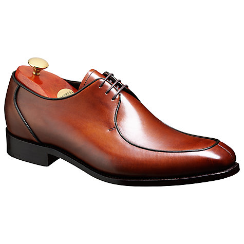 Buy Barker Preston Goodyear Welt Leather Derby Shoes, Walnut Online at johnlewis.com