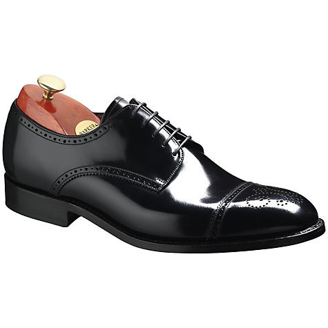 Buy Barker Perth Goodyear Welt Brogue Shoes, Black Online at johnlewis.com