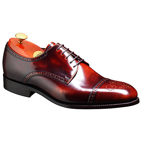Buy Barker Perth Goodyear Welt Brogue Shoes, Brandy Online at johnlewis.com