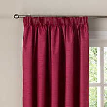 Buy Faux Silk Coated Thermal Blackout Pencil Pleat Curtains Online at johnlewis.com
