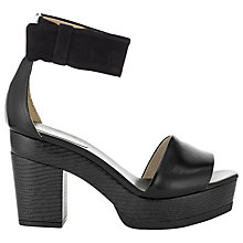 Buy Whistles Kamikaze Ankle Strap Platform Sandals, Black Online at johnlewis.com