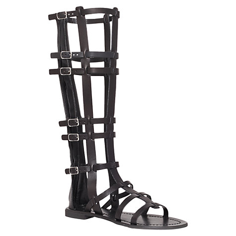 Buy Carvela Krown Knee-High Gladiator Sandals, Black Online at johnlewis.com