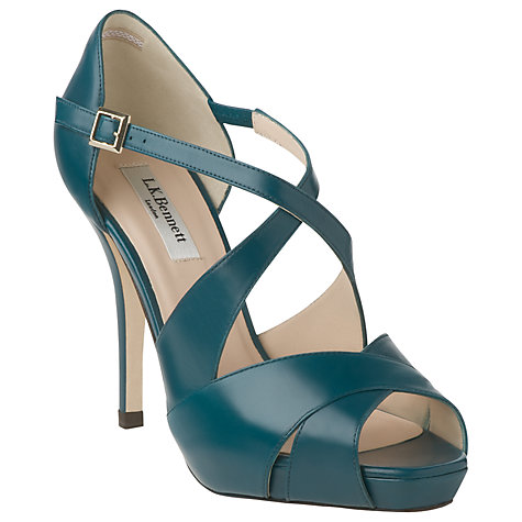 Buy L.K. Bennett Sandy Cross-Over Stilleto Heeled Sandals Online at johnlewis.com