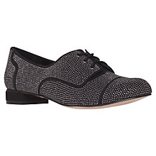 Buy Carvela Low Suedette Shoes, Black Online at johnlewis.com