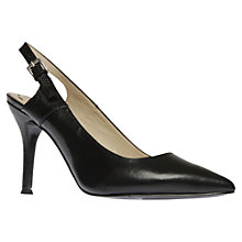 Buy Nine West Foe Slingback Heels, Black Online at johnlewis.com