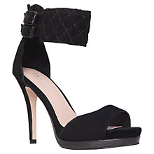 Buy Carvela Gas Heeled Sandals, Black Online at johnlewis.com