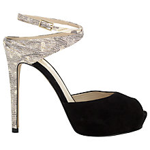 Buy Whistles Sakini Platform Sandals, Black/Neutral Online at johnlewis.com