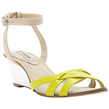 Buy Dune Guilty Patent Cross Vamp Wedged Sandals Online at johnlewis.com