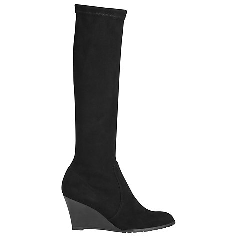 Buy L.K. Bennett Regan Knee Boots, Black Online at johnlewis.com