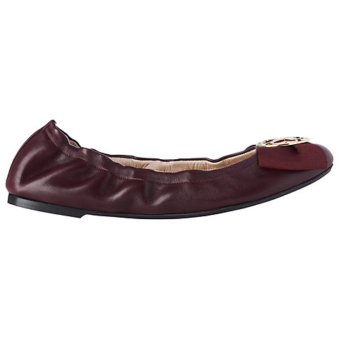Buy L.K. Bennett Steffy Leather Ballerina Pumps Online at johnlewis.com