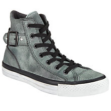 Buy Converse Chuck Taylor All Star Studded Collar Strap Shimmer High-Top Trainers Online at johnlewis.com