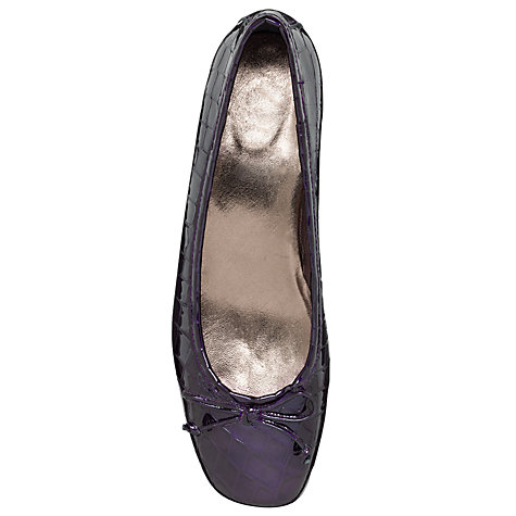 Buy John Lewis Winnie Crocodile Print Ballet Pumps, Purple Online at johnlewis.com