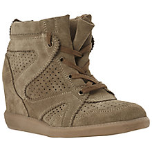 Buy Dune Libras Perforated Wedged High-Top Trainers Online at johnlewis.com