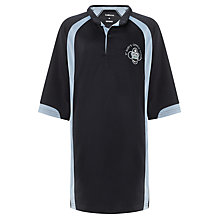Buy St Mary's Catholic School Boys' Rugby Shirt, Navy Blue/Light Blue Online at johnlewis.com