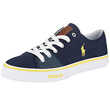 Buy Polo Ralph Lauren Cantor Low-Ne Canvas Trainers Online at johnlewis.com