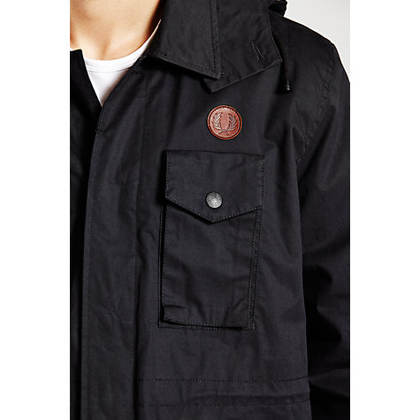 Buy Fred Perry Hooded Field Jacket, Navy Online at johnlewis.com