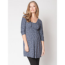 Buy Séraphine Mara Abstract Print Top, Grey/Blue Online at johnlewis.com