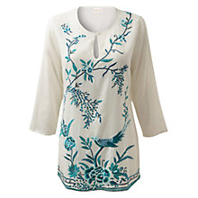 Buy East Suniko Tunic Top, Cream Online at johnlewis.com