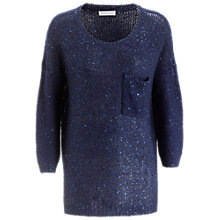 Buy Whistles Nell Sequin Jumper, Navy Online at johnlewis.com