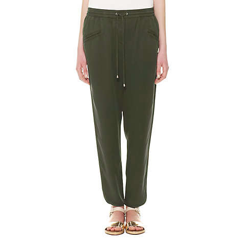 Buy Whistles Petra Trousers, Khaki Online at johnlewis.com