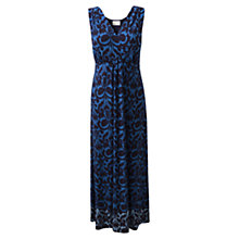 Buy East Ikat Print Maxi Dress, Navy Online at johnlewis.com