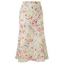 Buy Viyella Linen Bouquet Print Skirt, Sage Online at johnlewis.com
