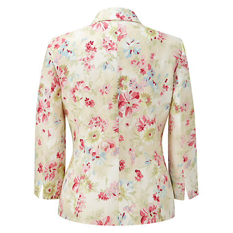 Buy Viyella Bouquet Linen Jacket, Sage Online at johnlewis.com