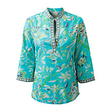 Buy East Anokhi Paradise Kurta Top, Turquoise Online at johnlewis.com