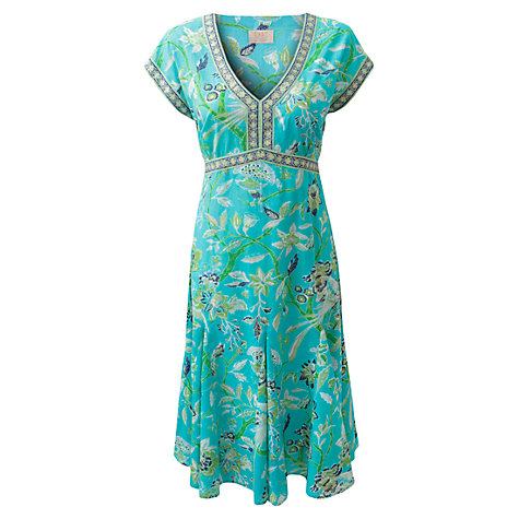 Buy East Anokhi Paradise Dress, Turquoise Online at johnlewis.com