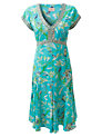 Buy East Anokhi Paradise Dress, Turquoise, 8 Online at johnlewis.com