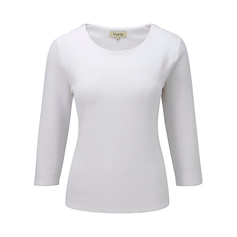 Buy Viyella Textured Top, White Online at johnlewis.com