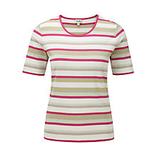 Buy Viyella Stripe Jersey Top, Sage Online at johnlewis.com