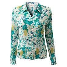 Buy East Florencia Print Shirt, White Online at johnlewis.com