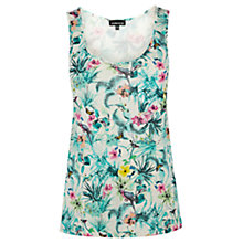 Buy Warehouse Parrot Print Vest Top, Multi Online at johnlewis.com
