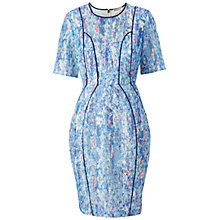 Buy Whistles Florette Lace Dress, Blue/Multi Online at johnlewis.com
