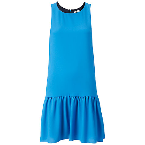 Buy Whistles Costella Drop Waist Dress, Blue Online at johnlewis.com