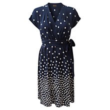 Buy East Spot Silk Dress, Royal Blue Online at johnlewis.com