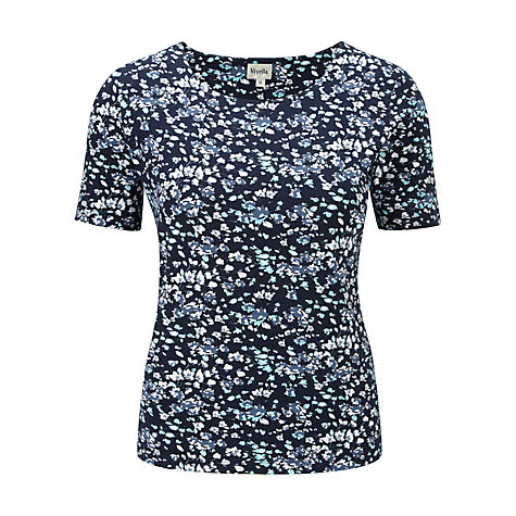 Buy Viyella Ditsy Floral Print Top, Navy Online at johnlewis.com