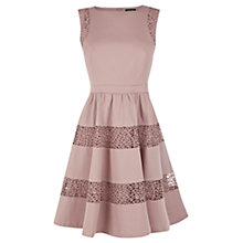Buy Warehouse Stripe Panel Dress, Mink Online at johnlewis.com